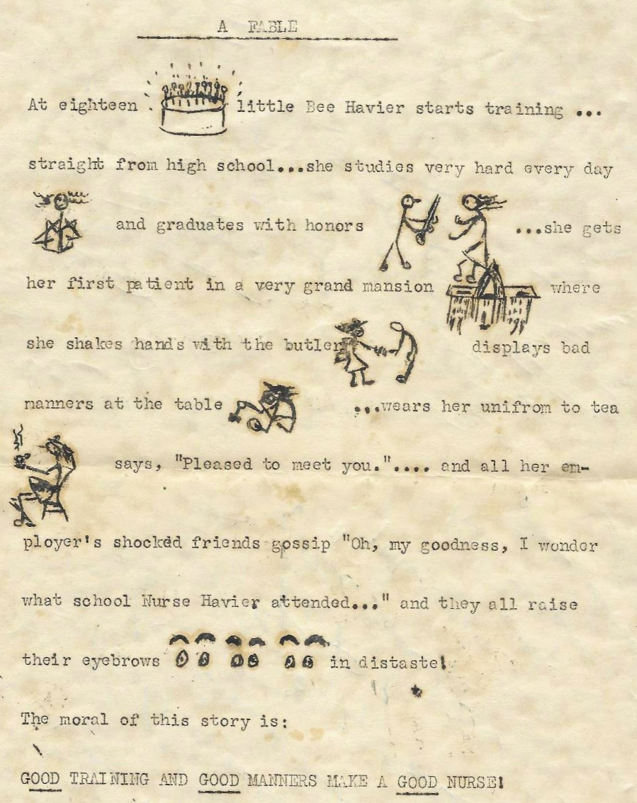 Class of 1942 Graduation Fable, inside page