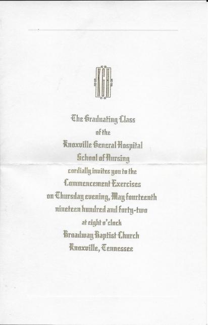 1942 Graduation Invitation