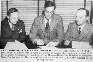 Surgeons Purchasing Howard Henderson Hospital in 1945