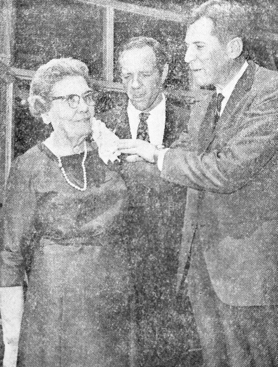Jane Keller Honored 1967
